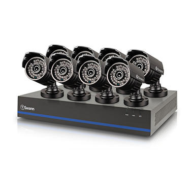 Swann 8 Channel 1080p TVI DVR Security System with 8 1080p Cameras ...