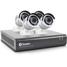 Swann 8-Channel 3MP Security System with 1 TB Hard Drive, 4x 3MP Bullet Cameras and 50' Night Vision