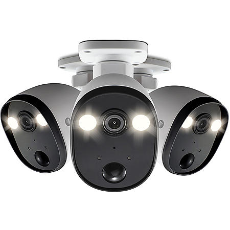 Swann 1080P Outdoor Powered Wi-Fi Spotlight Surveillance Camera (3 Pack)