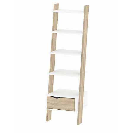Tvilum Diana Leaning Bookcase with 1 Drawer, Choose a Color