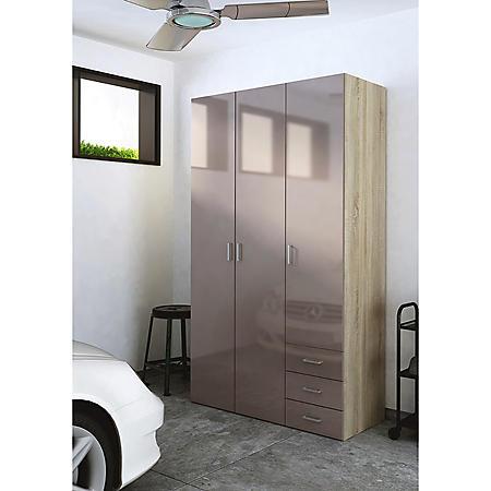 Tvilum Jumbo Mocha High Gloss Paint Storage Cabinet Sam
