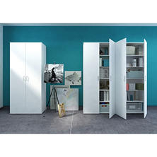D-Scan White Double Door Storage Cabinet