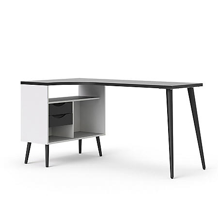 "Tvilum Mid-Century ""L"" Home Office Desk (Various Colors)"