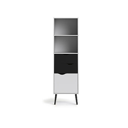 Tvilum Diana Bookcase with 2 Drawers and 1 Door, Choose a Color