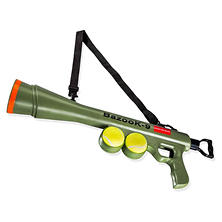 OxGord BazooK-9 Tennis Ball Launcher Bundle (Two Squeaky Ball Dog Toys and Launcher Shoulder Strap)