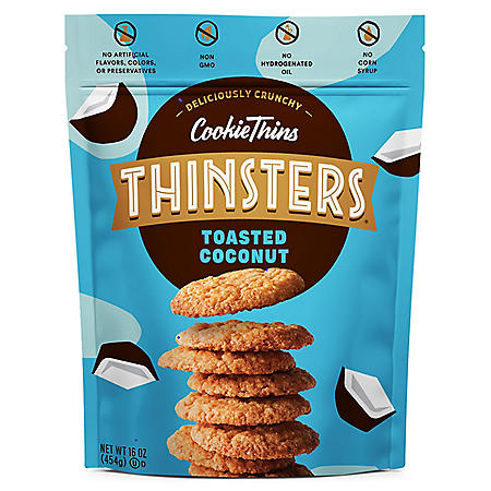 Mrs. Thinster's Cookie Thins, Toasted Coconut (16 oz.)