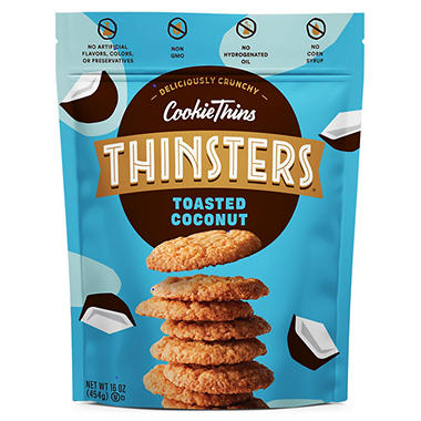 Mrs. Thinster's Toasted Coconut Cookie Thins