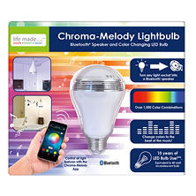 Life Made Chroma-Melody Bluetooth Speaker Color Changing Lightbulb