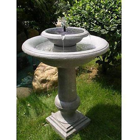 2-Tier Solar Fountain/ Birdbath