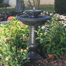 Chatsworth 2-Tier Solar-On-Demand Fountain