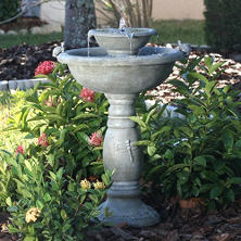 Country Gardens 2-Tier Solar-On-Demand Fountain