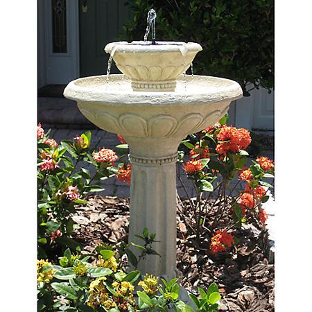 Kensington Gardens 2-Tier Solar-on-Demand Fountain