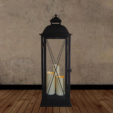 Salerno Triple LED Candle Lantern - 27.25