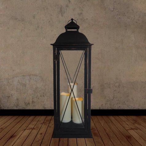 "Salerno Triple LED Candle Lantern - 27.25"" Tall"