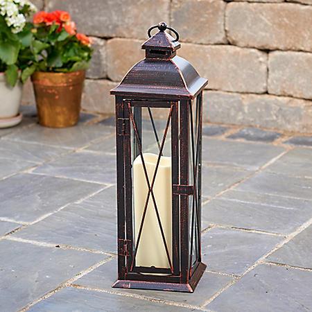 "Siena 16"" LED Candle Lantern - Antique Bronze"