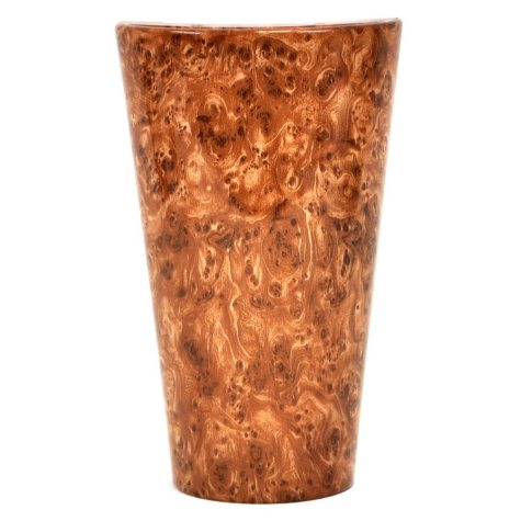 "Vivid Burlwood High Gloss Wall Sconce - 10"" Tall"