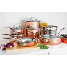 triply copper cookware set
