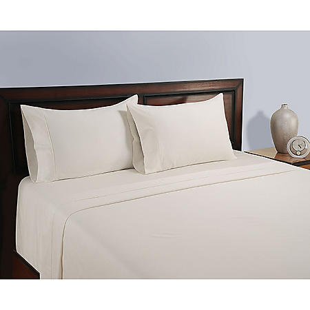 Natural 325-Thread-Count Organic Cotton Sheet Set (Assorted Sizes & Colors)