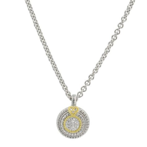 Judith Ripka Pave Diamond Circle Necklace (I, I1)