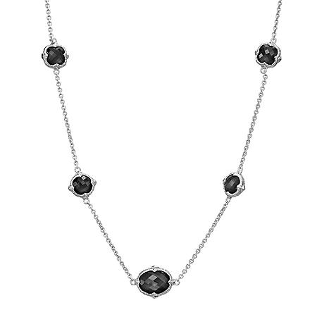 Judith Ripka Contempo Chain Necklace With Multiple Stones