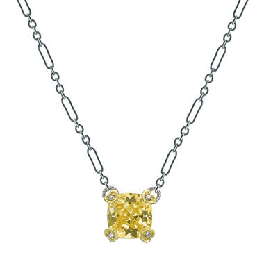 Judith Ripka Canary Crystal & Diamond Necklace