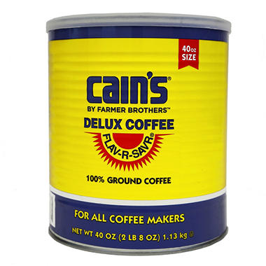 Farmer Brothers Cain's Delux Coffee, Ground (40 oz. can)