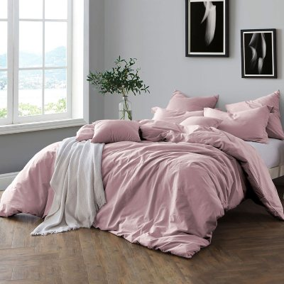 Swift Home Pre Washed Cotton Chambray Duvet Cover And Sham Bedding Set  (Assorted Sizes