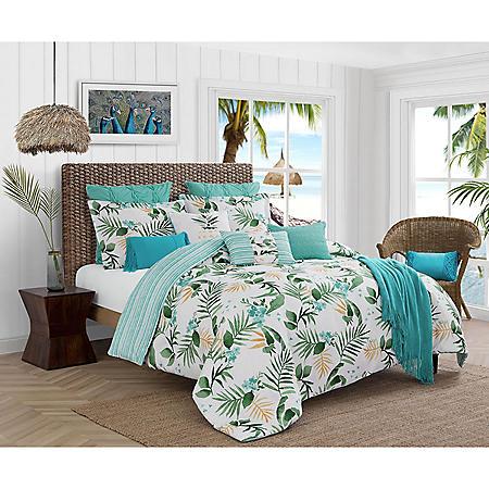 Caribbean Joe Tropical Nassau 4-Piece Reversible Comforter Set (Assorted Sizes)