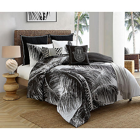 Caribbean Joe Tropical Palm 4-Piece Reversible Comforter Set (Assorted Sizes)