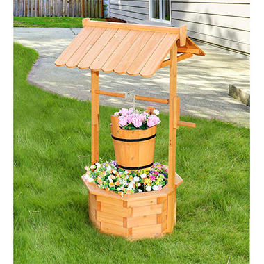 Sunjoy Crowley Natural Finish Wishing Well Sam S Club
