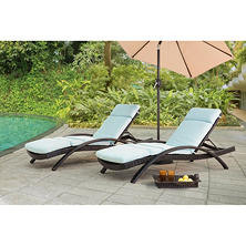 Sunjoy Columbia Lounger Canvas spa, 2 Pack