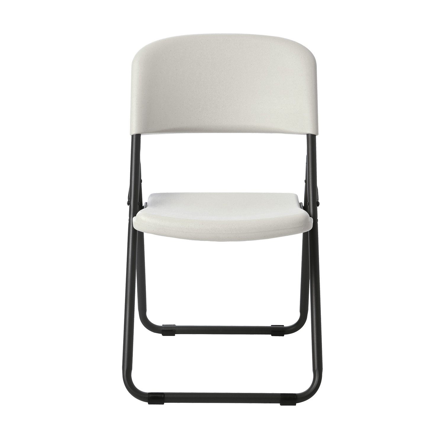 Lifetime mercial Grade Loop Leg Contoured Folding Chair White