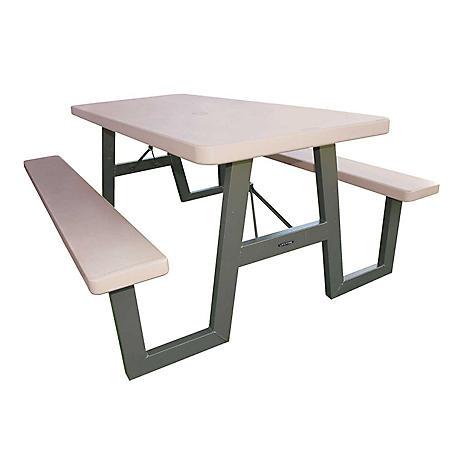 Lifetime 6' W-Frame Folding Picnic Table - Putty