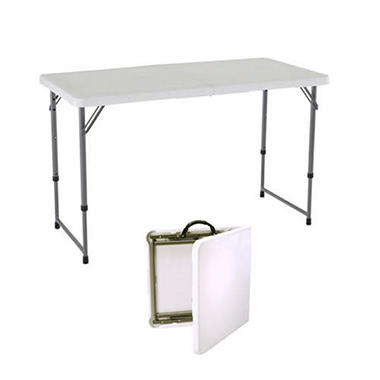 4u0027 FOLD N HALF TABLE 3 ADJUSTABLE HEIGHTS