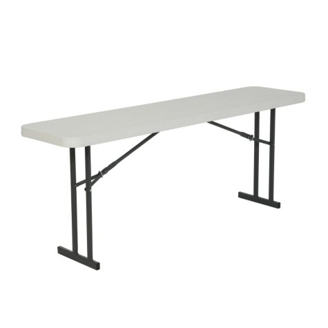 Lifetime 6' Seminar Folding Table, White Granite