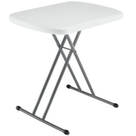 "Lifetime 26"" Personal Table, White Granite"