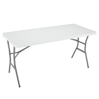 Charmant Lifetime 5u0027 Fold In Half Light Commercial Grade Table, White Granite