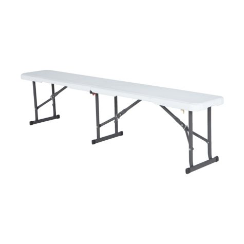 Lifetime 6' Fold-In-Half Bench, White Granite