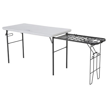 Lifetime 4-Foot Tailgate Table with Wire Pull-Out