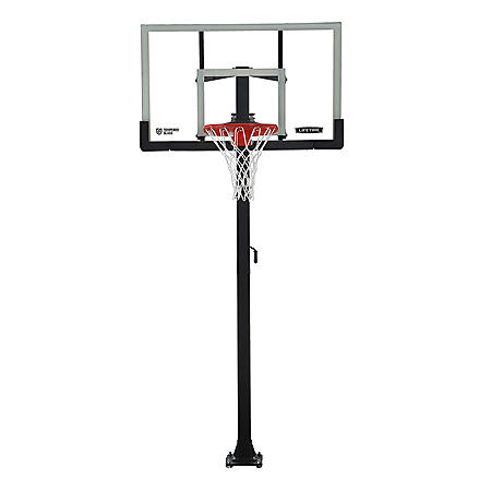 "Lifetime Adjustable In-Ground Basketball Hoop (54"" Tempered Glass), 90568"