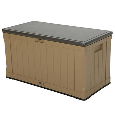 Lifetime 116 Outdoor Storage Box, Heather Beige