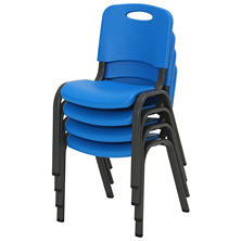 Lifetime Children's Stack Chair, Dragonfly Blue - 4 pack