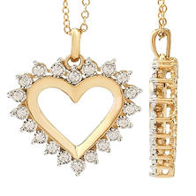 0.26 CT. TW Diamond Heart Pendant in 14K Yellow Gold (H-I, I1)