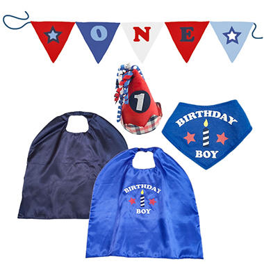 Toby 4 Piece Birthday Dress Up Set Superhero Boy