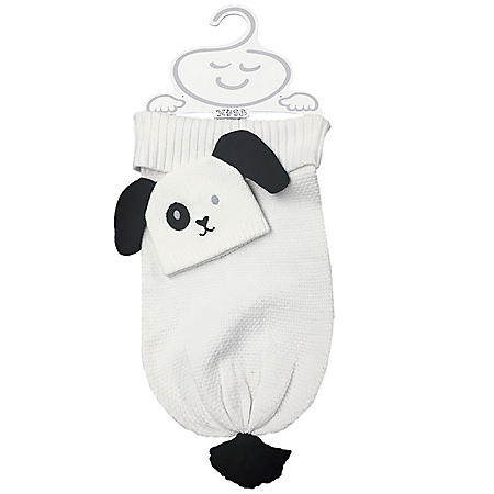 NYGB 2-Piece Snuggle Sack and Hat Set, Puppy