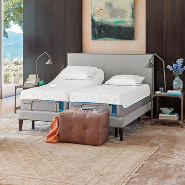 TEMPUR Pedic Cloud Supreme Split King Mattress And TEMPUR Ergo Premier  Adjustable Split King