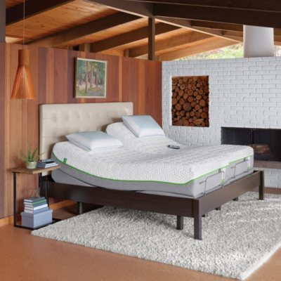 TEMPUR Pedic Flex Prima Split King Mattress And TEMPUR Ergo Premier  Adjustable Split King