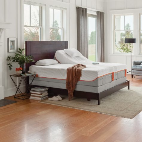 TEMPUR-Pedic Contour Supreme Split King  Mattress and TEMPUR-Ergo Premier Adjustable Split King Base Set