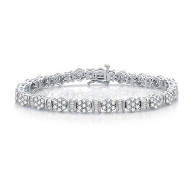 5 0 Ct T W Diamond Bracelet In 14k White Gold I I1 Sam S Club