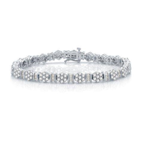 5.0 CT. T.W. Diamond Bracelet in 14K White Gold (I-I1)